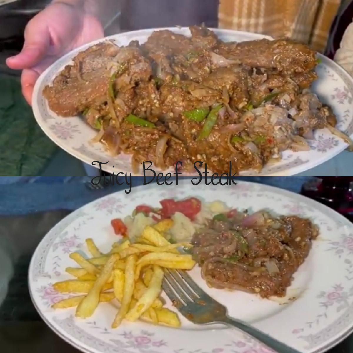 Juicy and Tender Beef Steak homemade Recipe