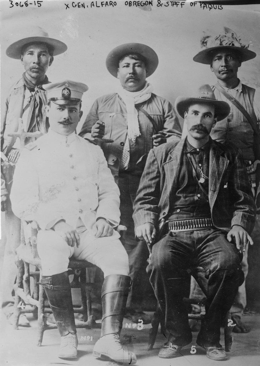ALVARO OBREGON (seated on left)