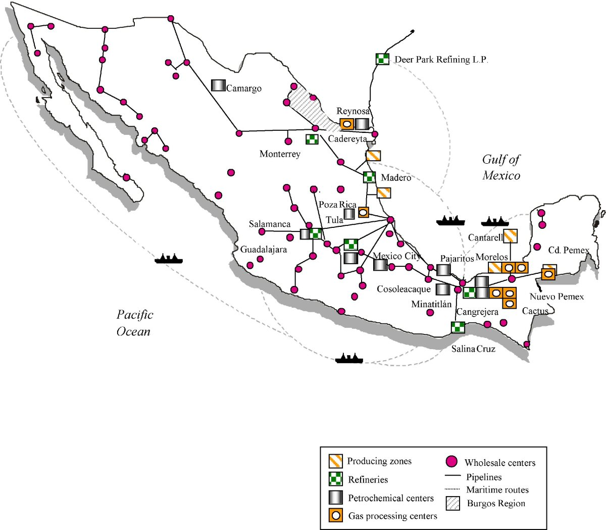 INFRASTRUCTURE OF OIL INDUSTRY NATIONALIZED BY MEXICO IN 1938