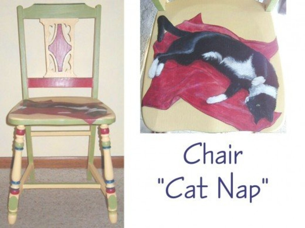 """""""Cat Nap"""" chair for fundraiser"""