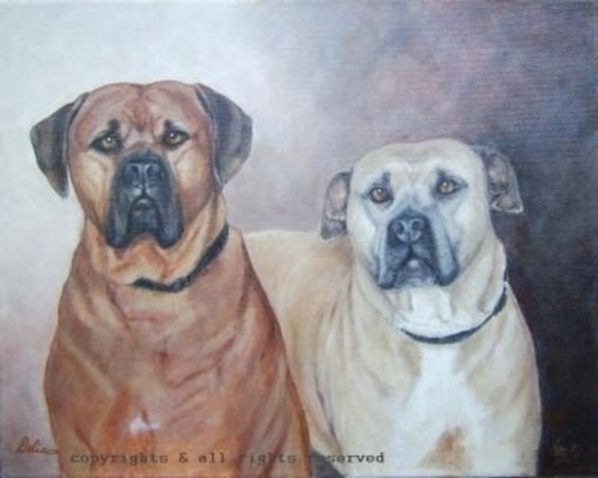 A gift to my nephew and his wife...these two dogs are adored and loved...two very lucky. Source
