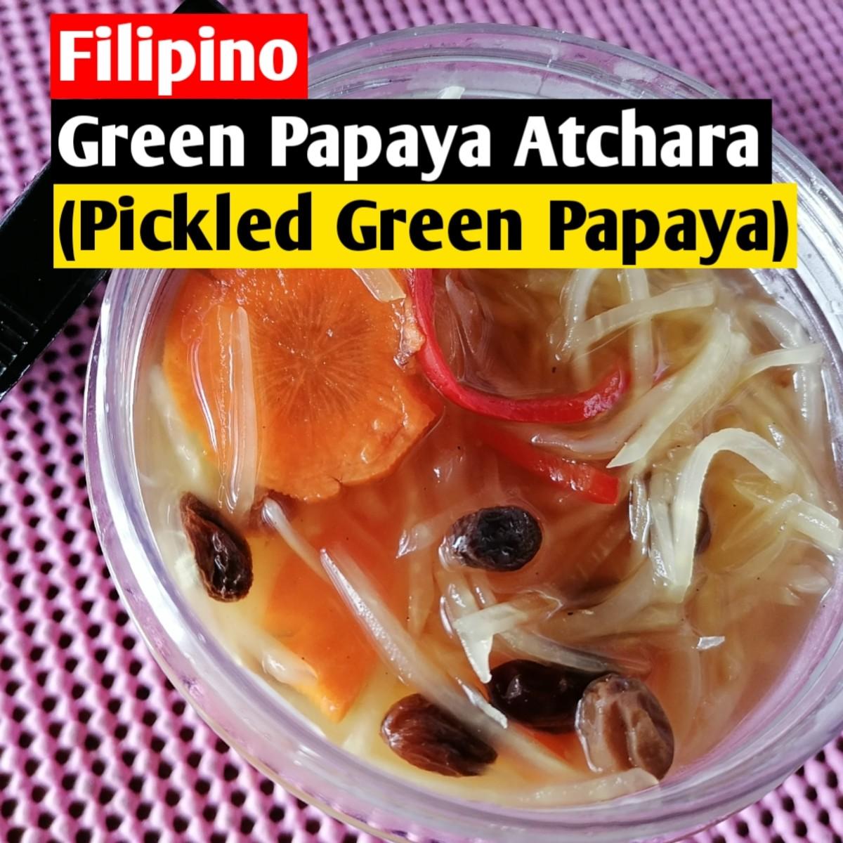Filipino green papaya atchara (pickle)