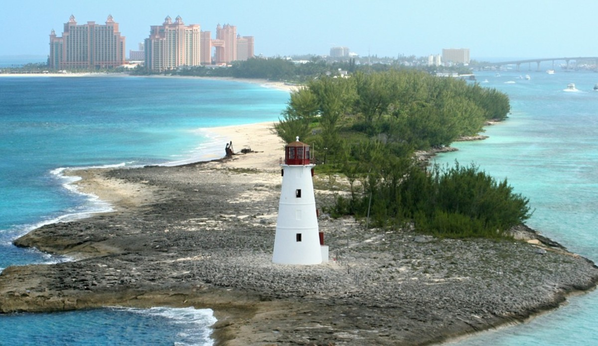 There are many lighthouses in The Bahamas.