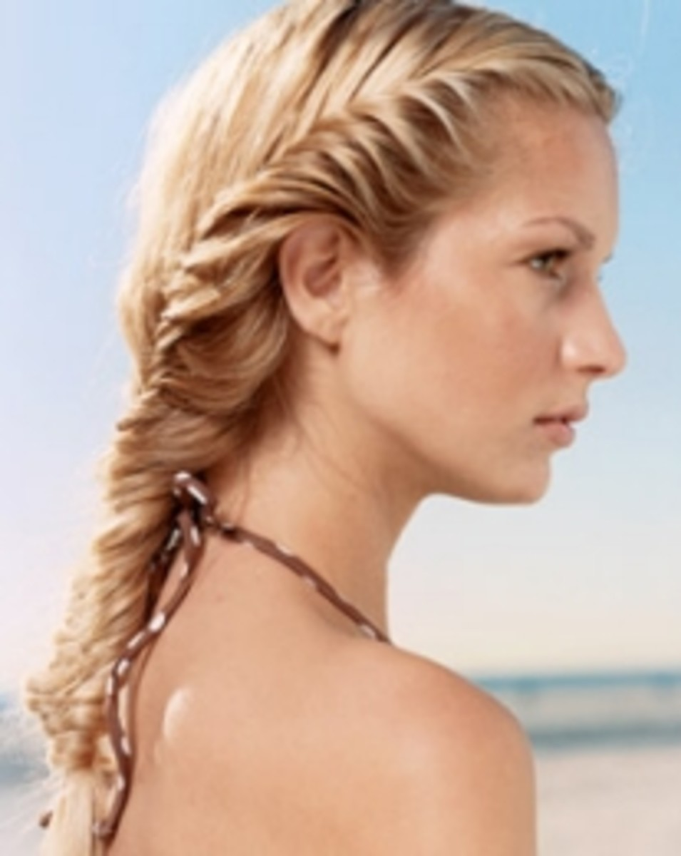 Fishtail braids are also known as herringbone or fishbone.  This looks time-consuming but is actually easy to braid.
