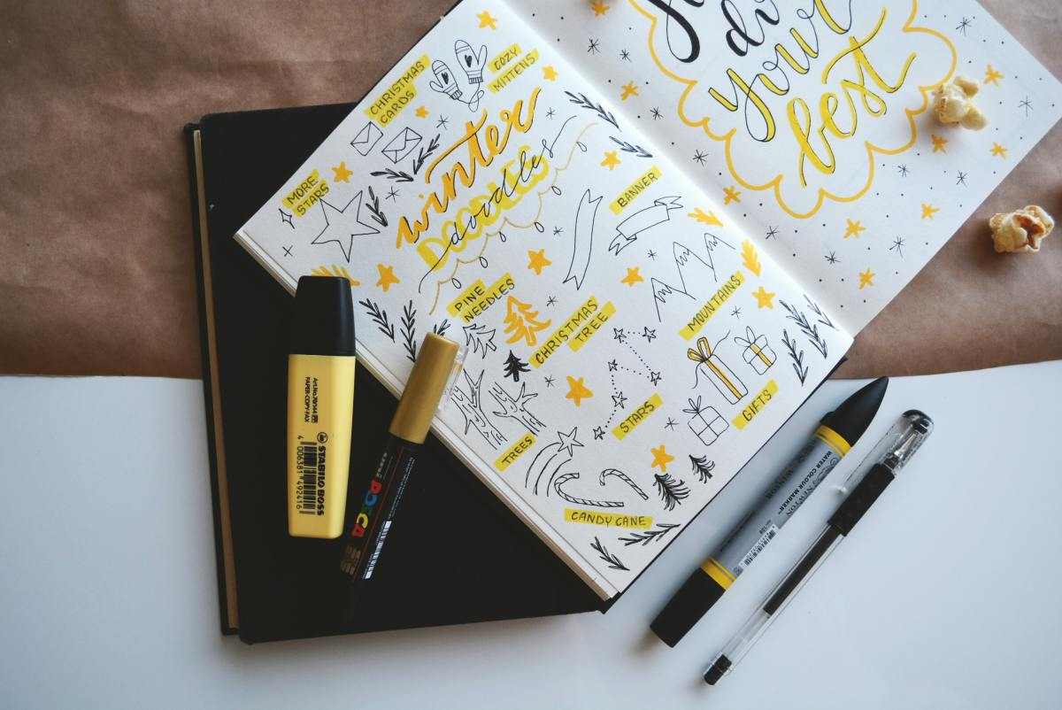 A mesmerising page featured here, with yellow highlights and tones.