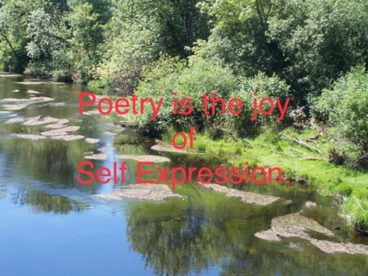 Poetry is the form of self expression.