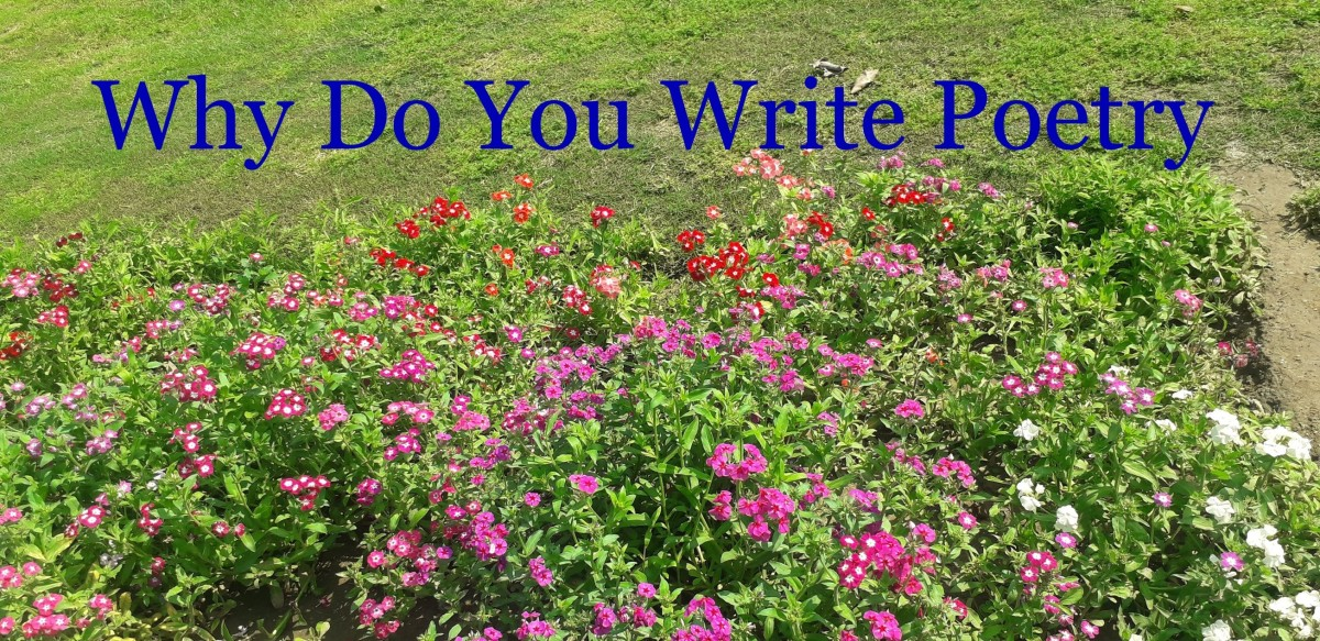 Why do you write poetry?