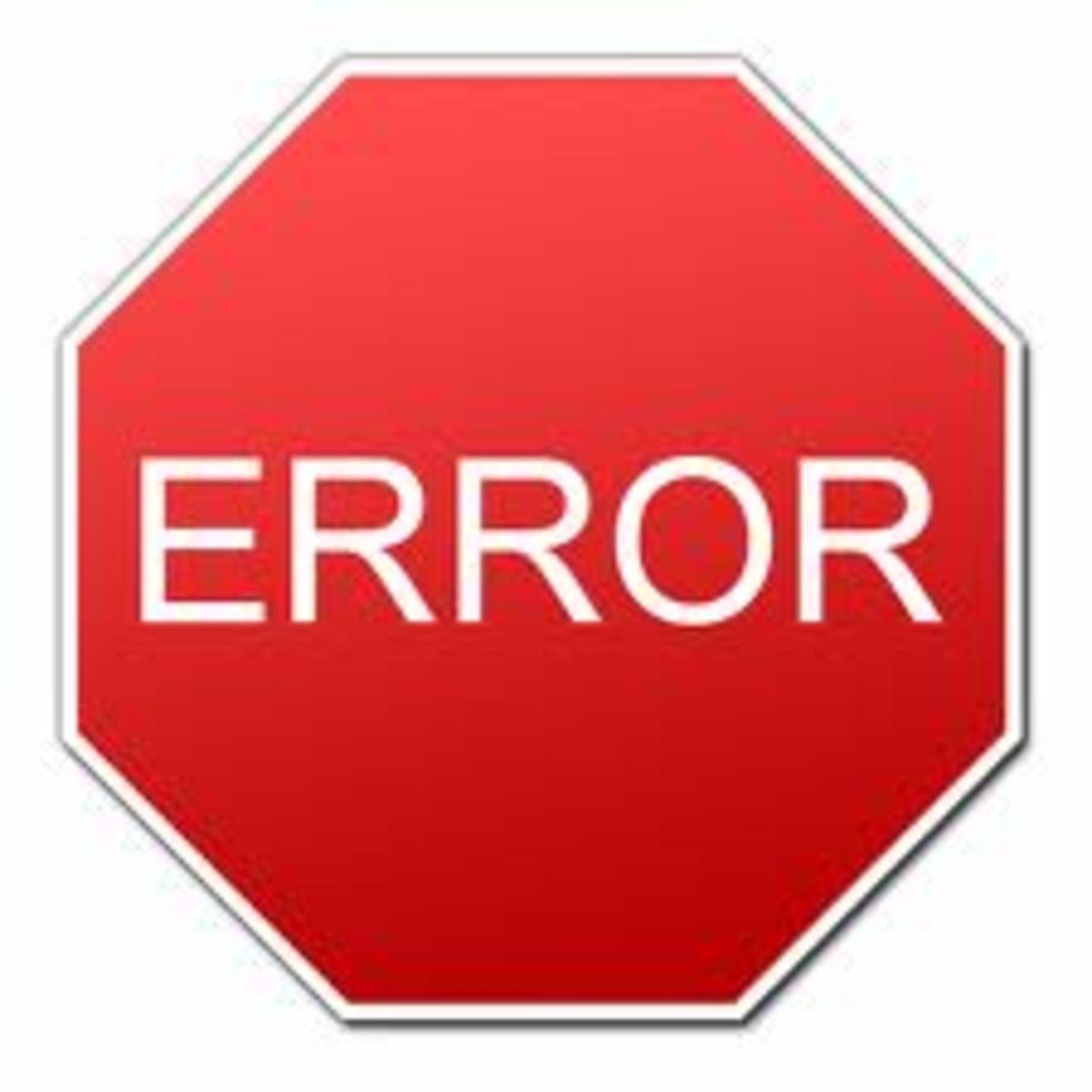 Types of programming errors