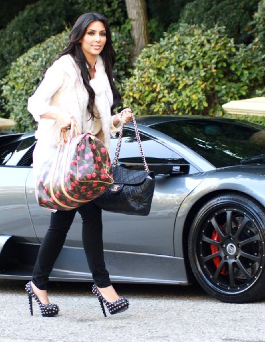 Kim with the Monogram Cerises Keepall