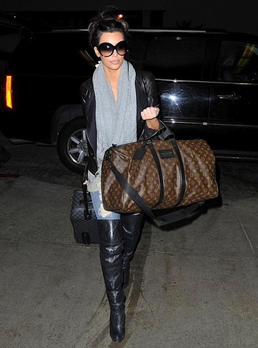 Kim with her monogram keepall.