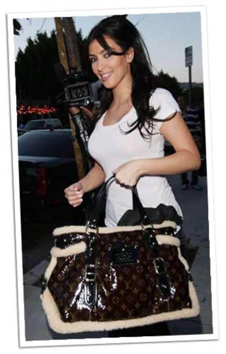 Kim with a Sheepskin Louis.