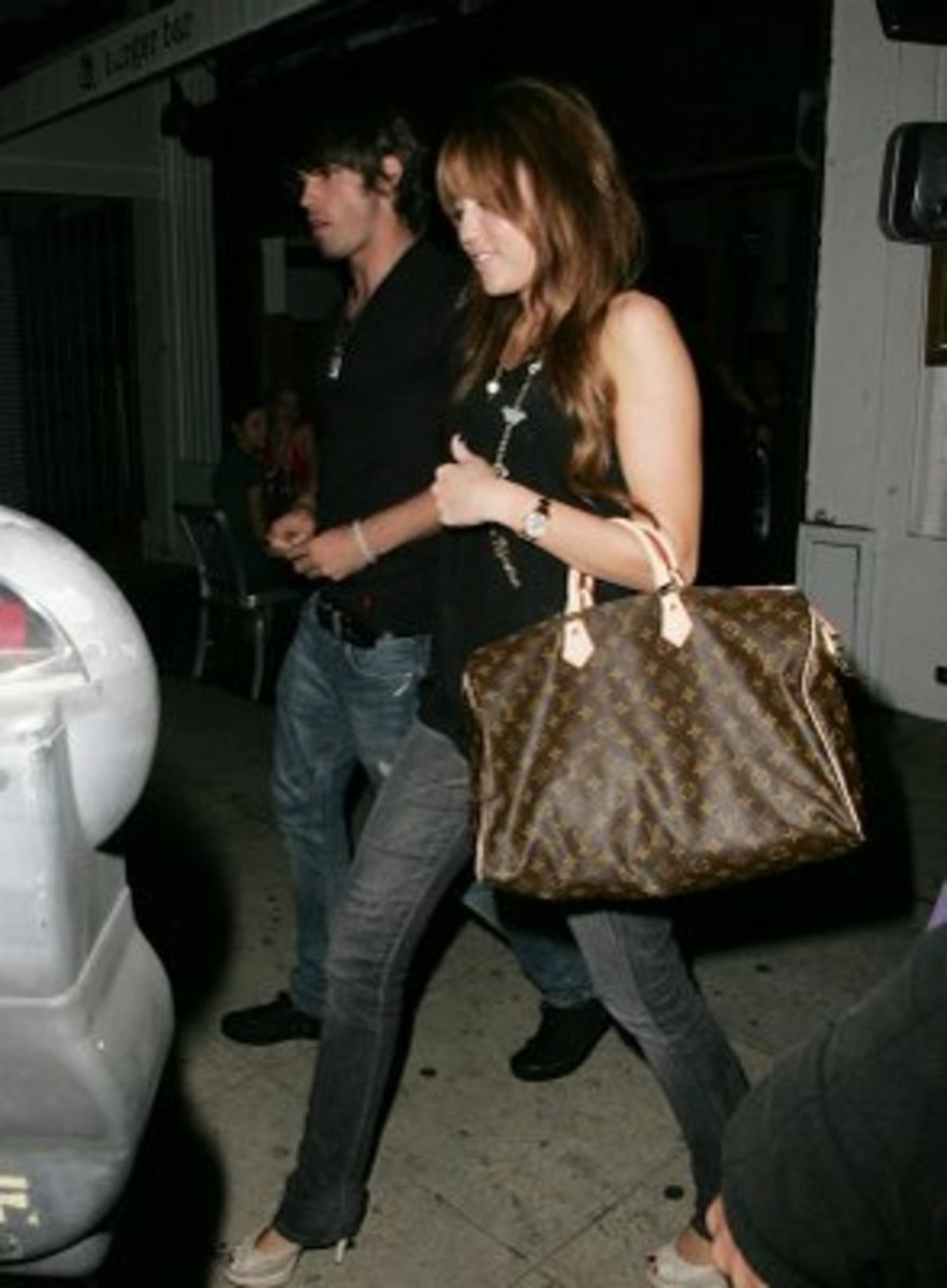 Miley and her LV.