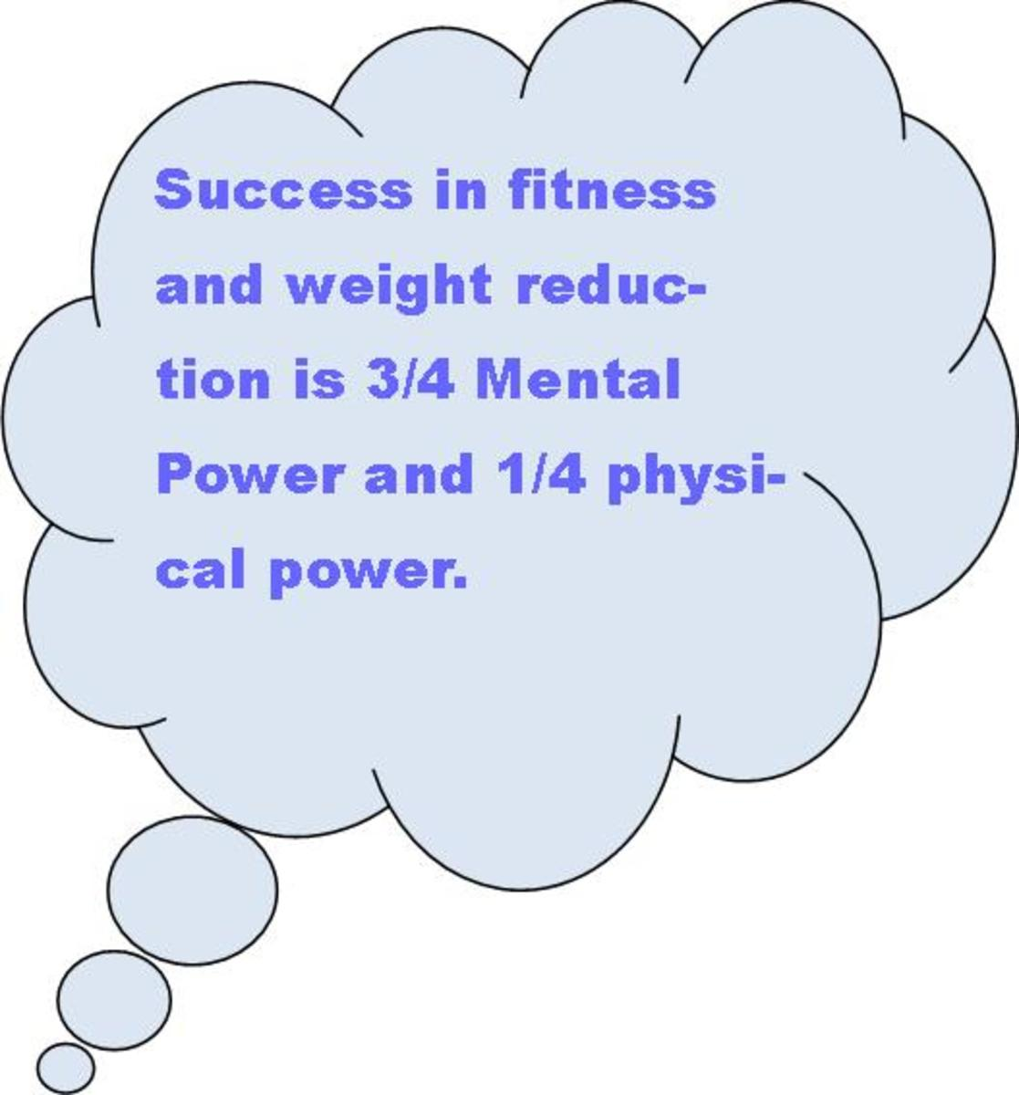 Re-frame your thoughts about your fitness and weight loss goals.