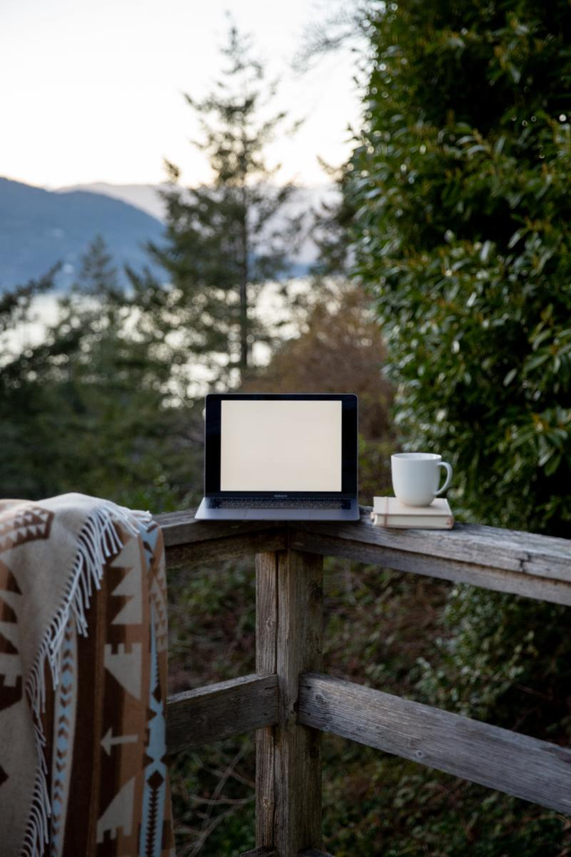 Want a little more social distancing than a card table provides? Invite friends to play with their laptops outside at your home, so everyone can sit farther away. Photo by Tatiana Syrikova from Pexels