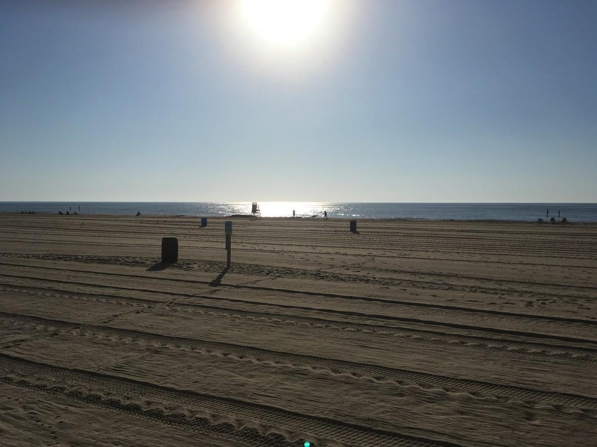 Quiet morning beach