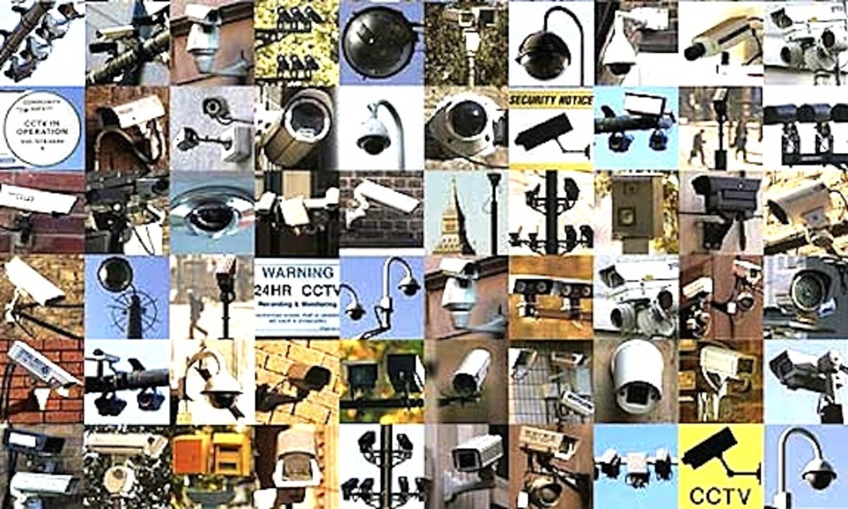 Do you know all the ways you are being watched.  Not all of them are pictured here.