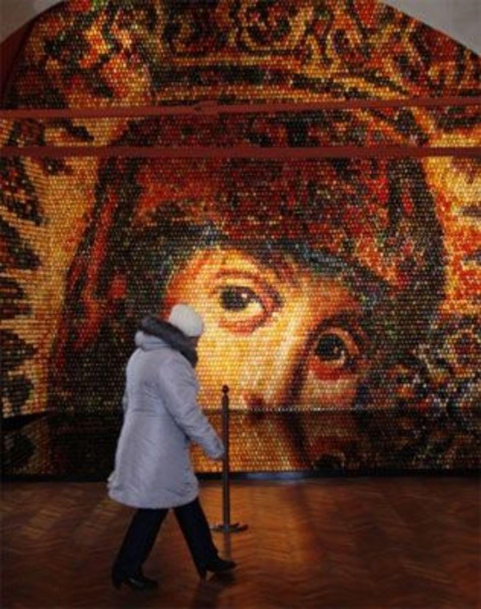 Virgin Mary Easter Egg mosaic