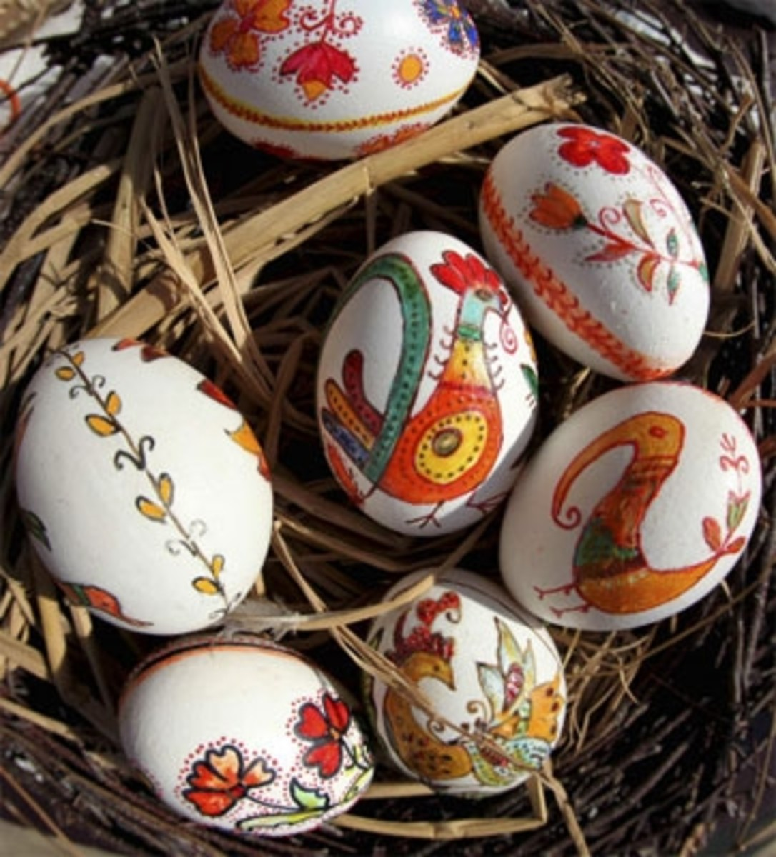 easter eggs in Sofia Bulgaria