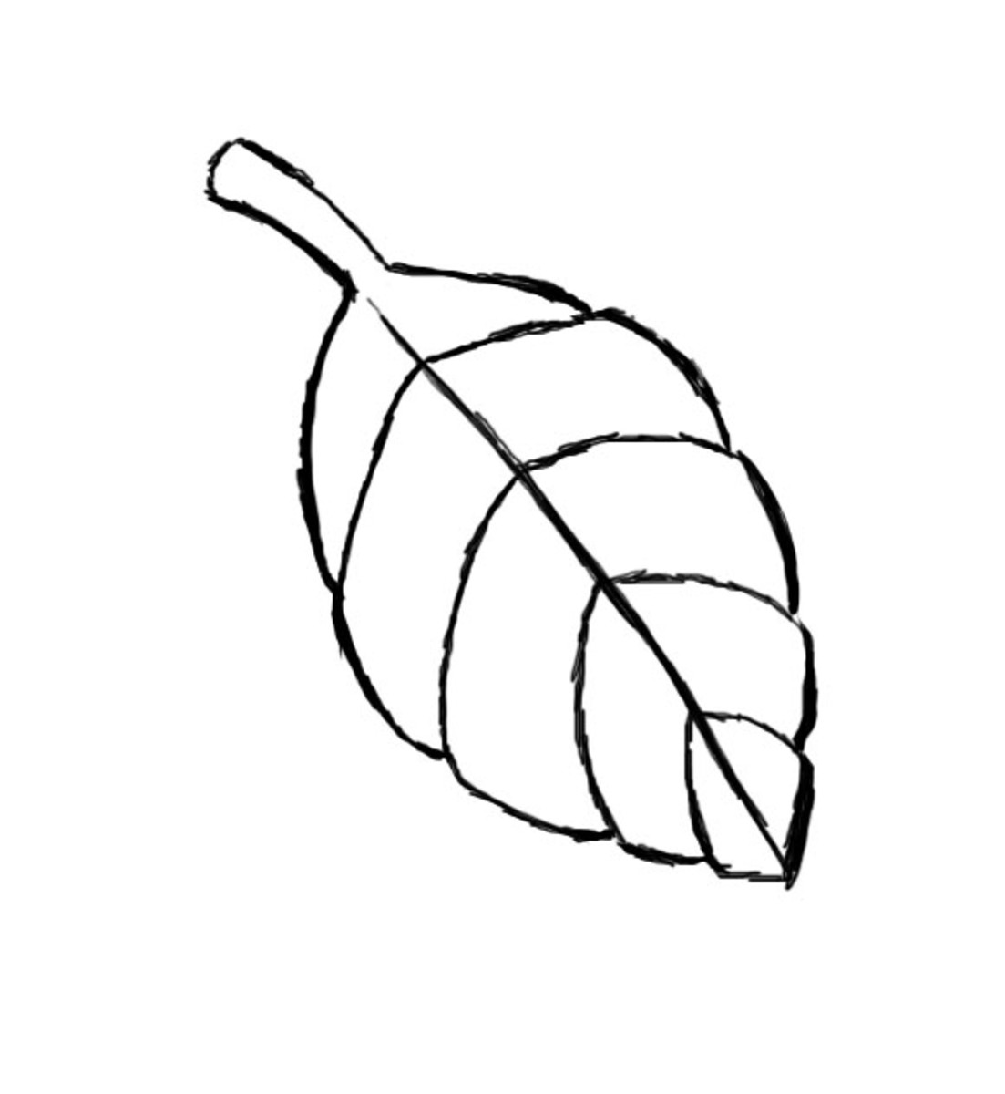 how to draw a mull leaf