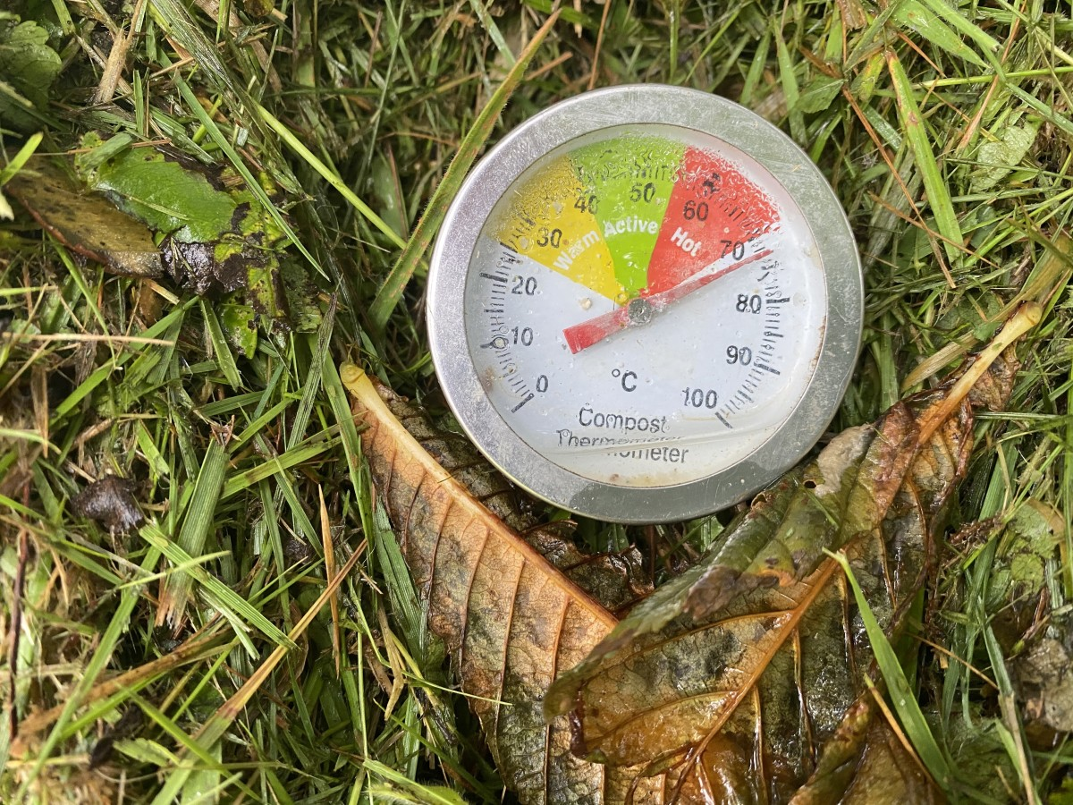 Hot compost thermometer