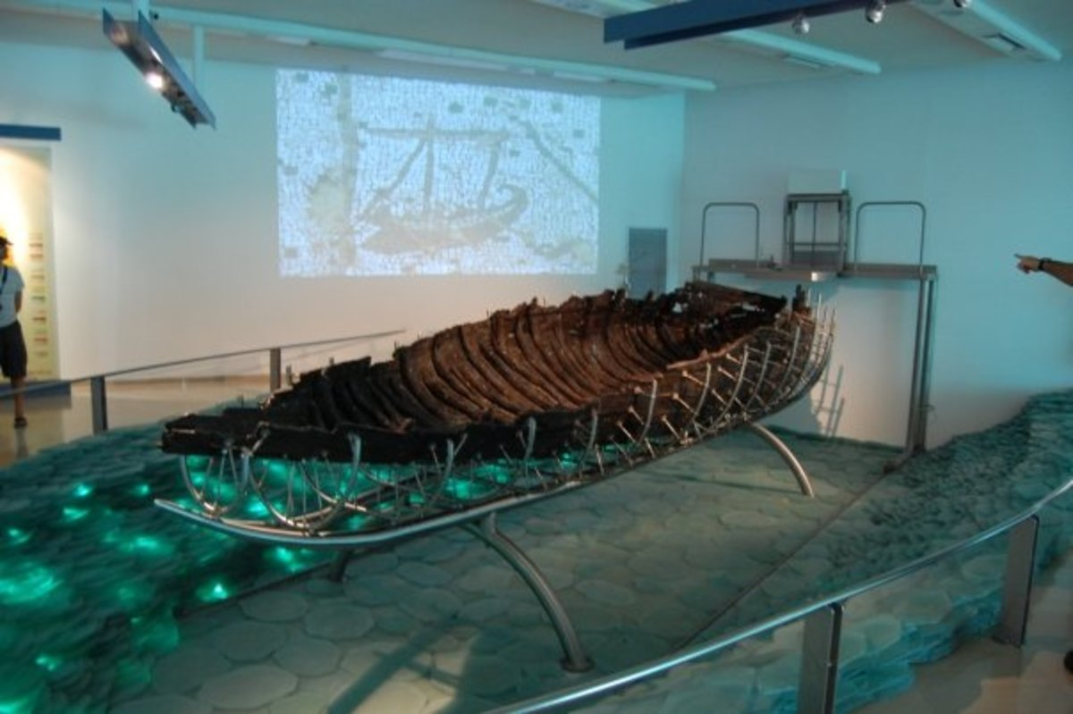 SAILING VESSEL FROM JESUS TIME ON DISPLAY