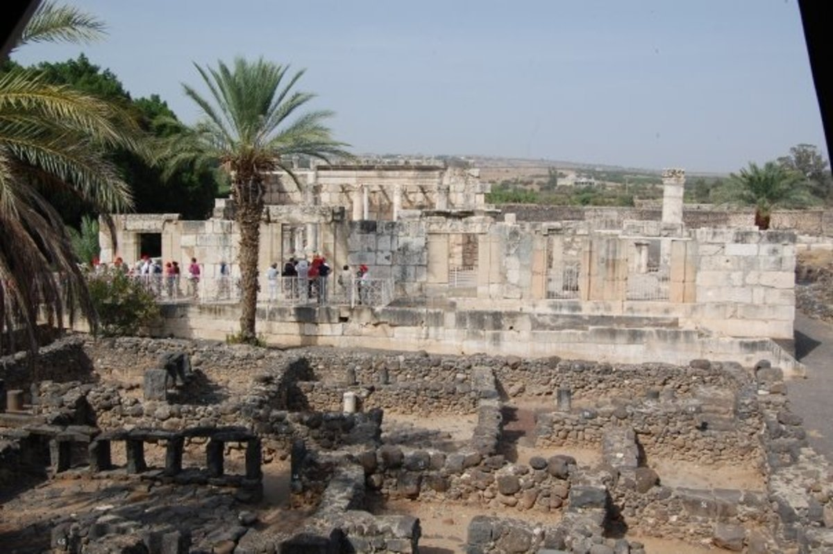 SYNAGOGUE AT CAPERNAUM WHERE YESHUA PREACHED