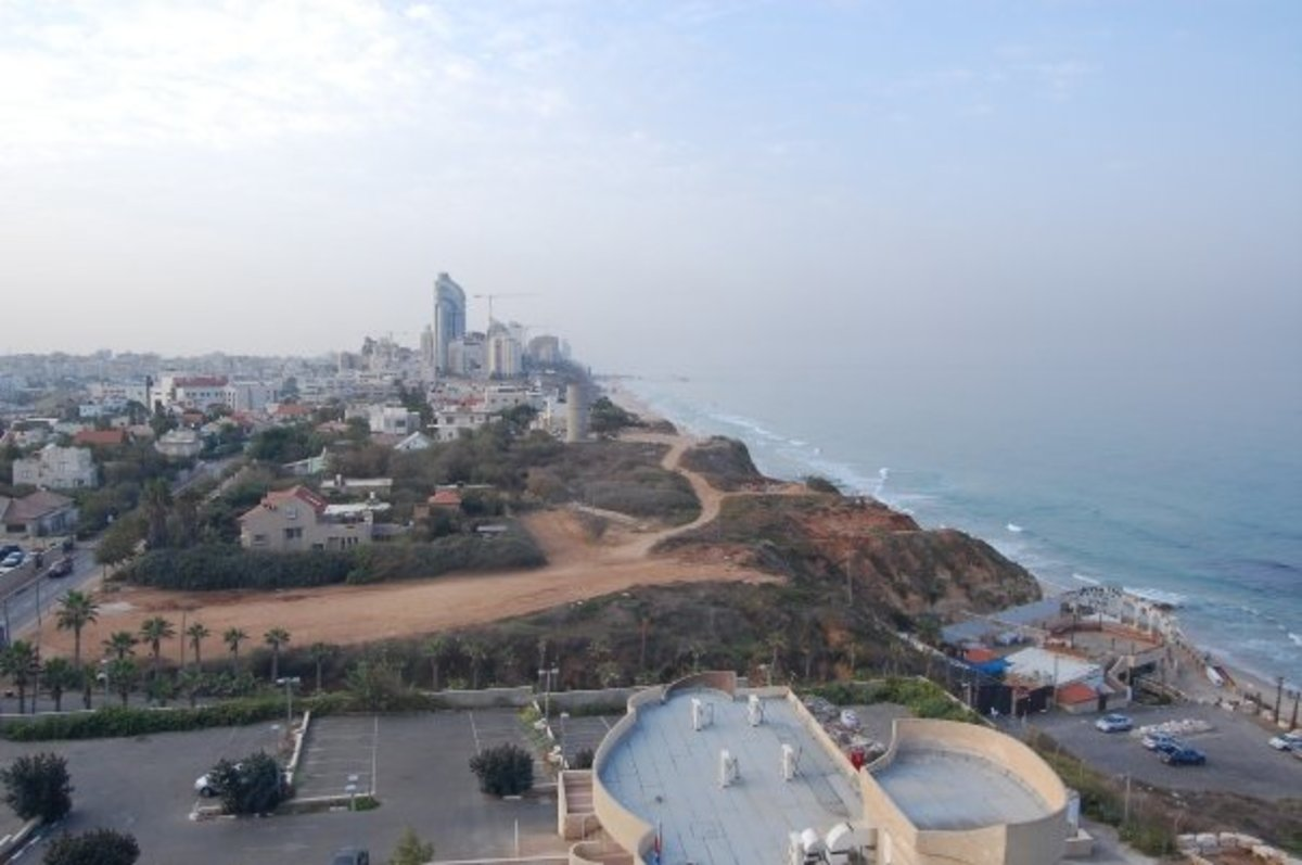 VIEW OF NETANYA FROM OUR HOTEL BALCONY