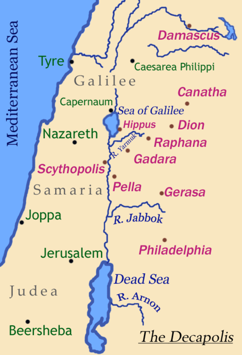 THE DECAPOLIS AND SURROUNDING AREA
