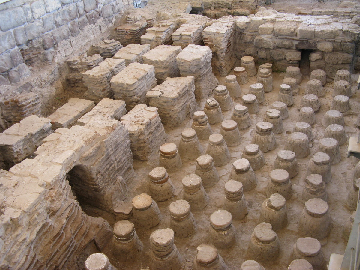 ROMAN BATHS AT BEIT SHE'AN