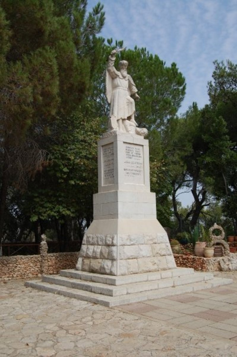 STATUE OF ELIJAH ATOP MOUNT CARMEL