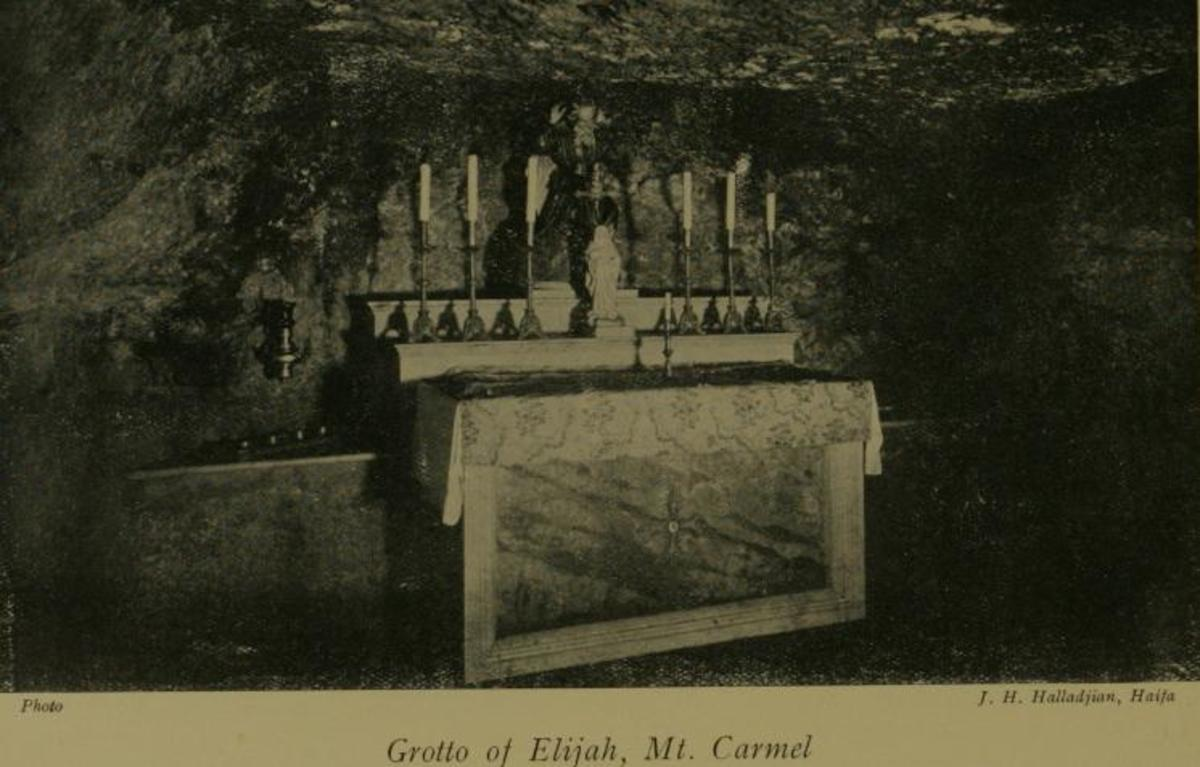 GROTTO OF ELIJAH ON MOUNT CARMEL