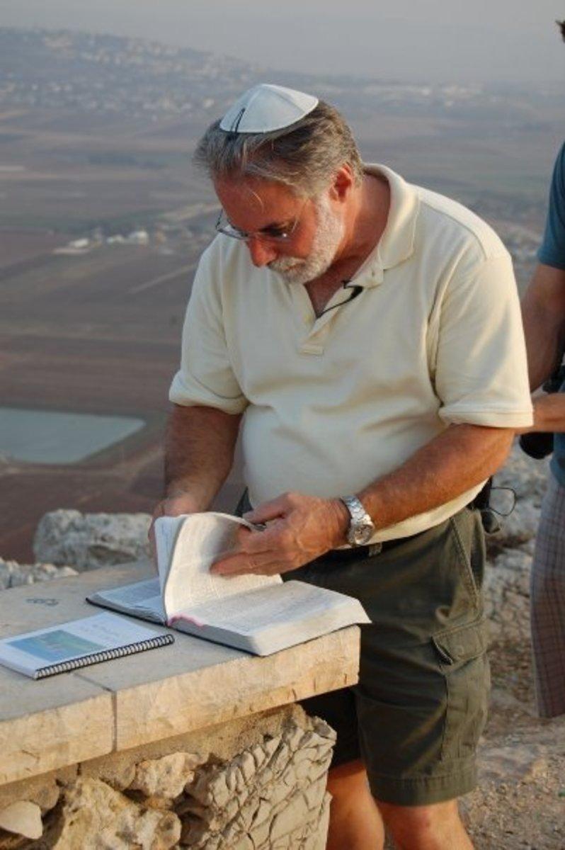 RABBI BOB PREPARES OUR LESSON ON MOUNT CARMEL