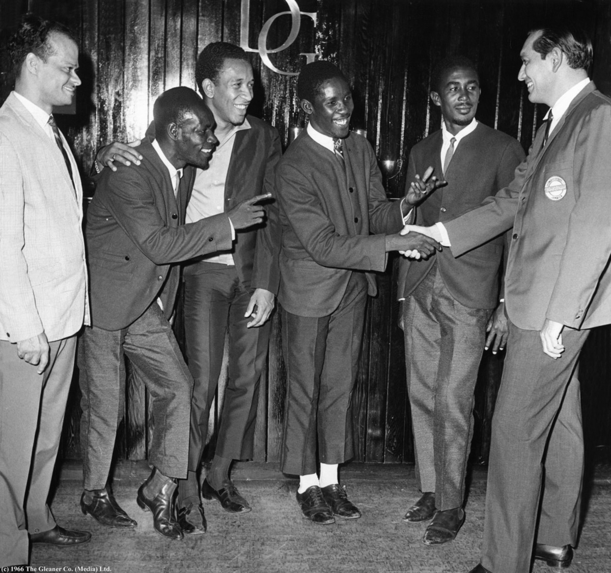 The group when they won the 1966 Jamaica Festival Song
