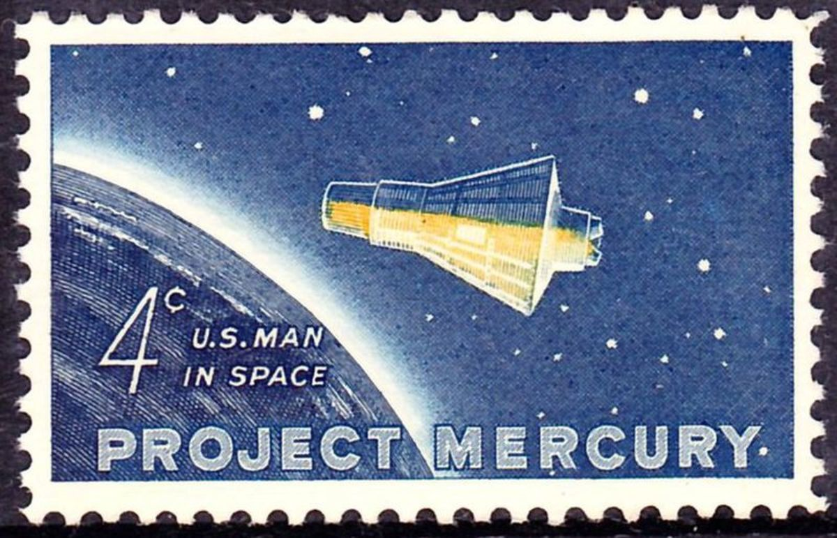 Postage stamp released on February 20, 1992 in honor of John Glenn and the Friendship 7 orbit.