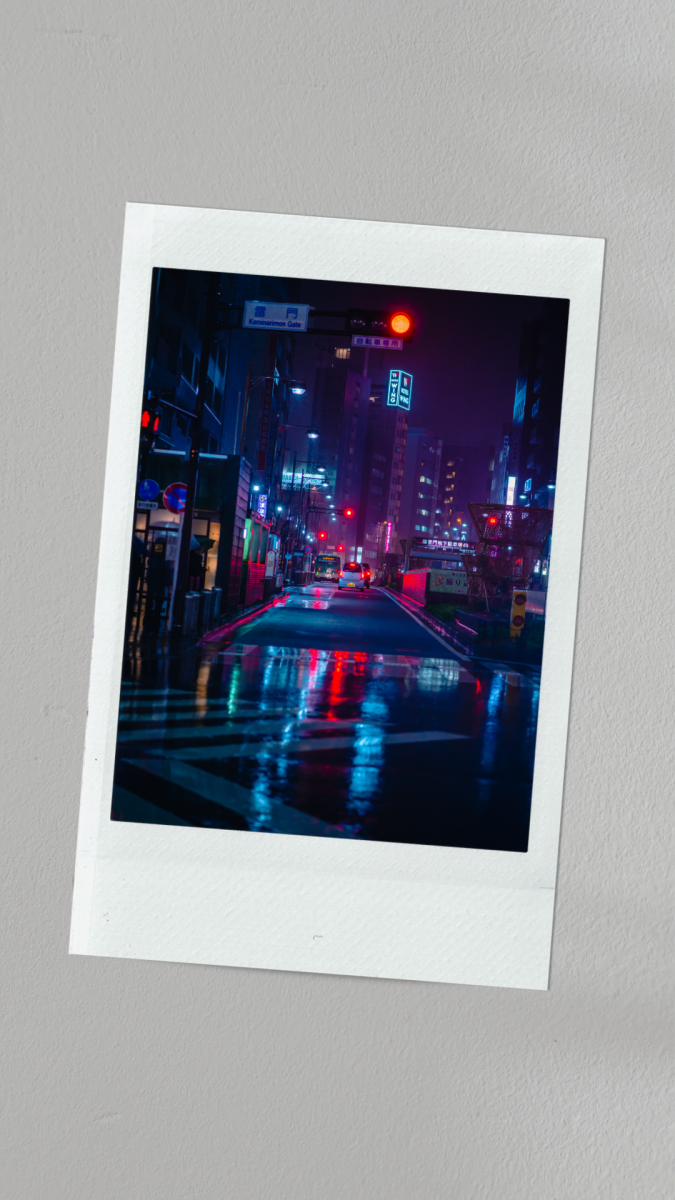 Nothing beats a polaroid with a neon aesthetic image!