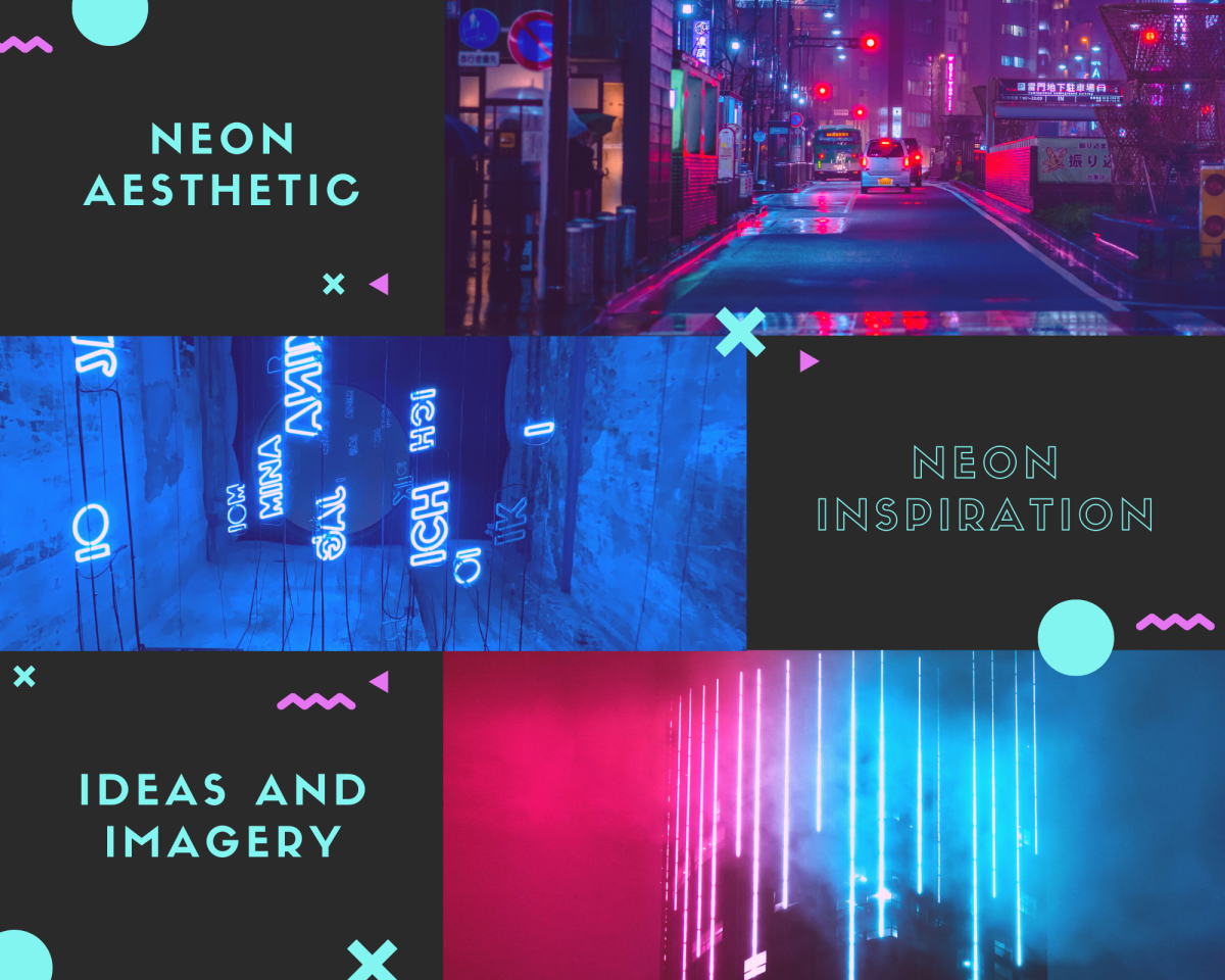 A neon aesthetic collage to inspire you!
