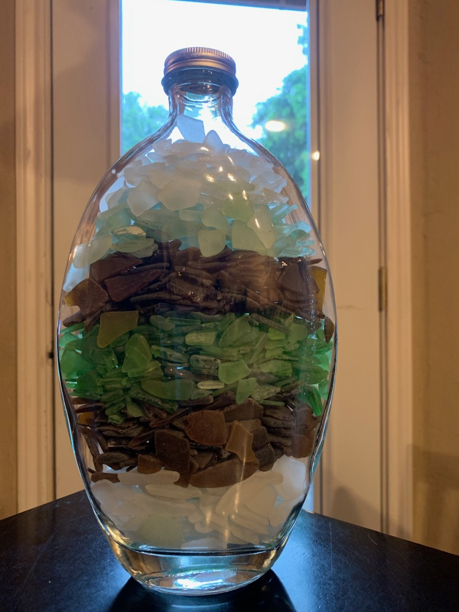 The shape of this jar was perfect for this project.