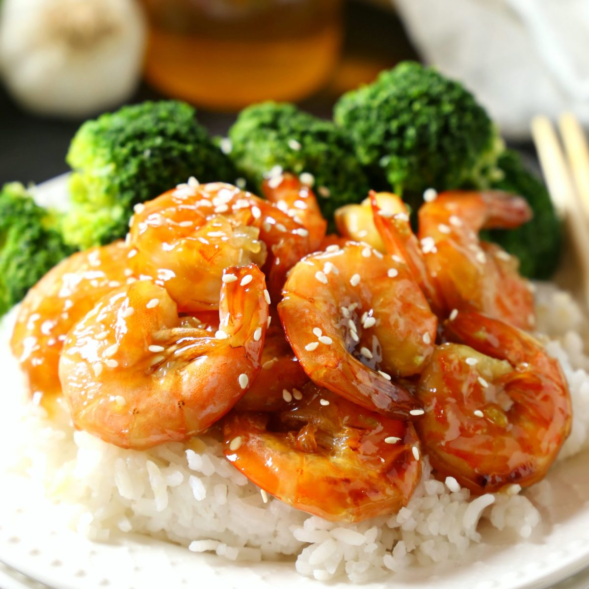 One Pan Honey Garlic Shrimp