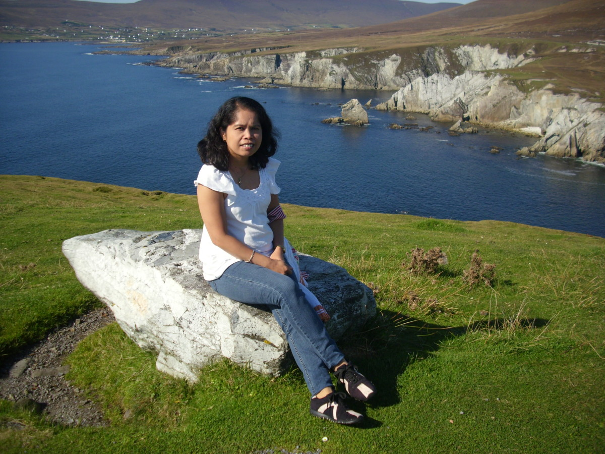 Me in Atlantic Drive, Achill Island