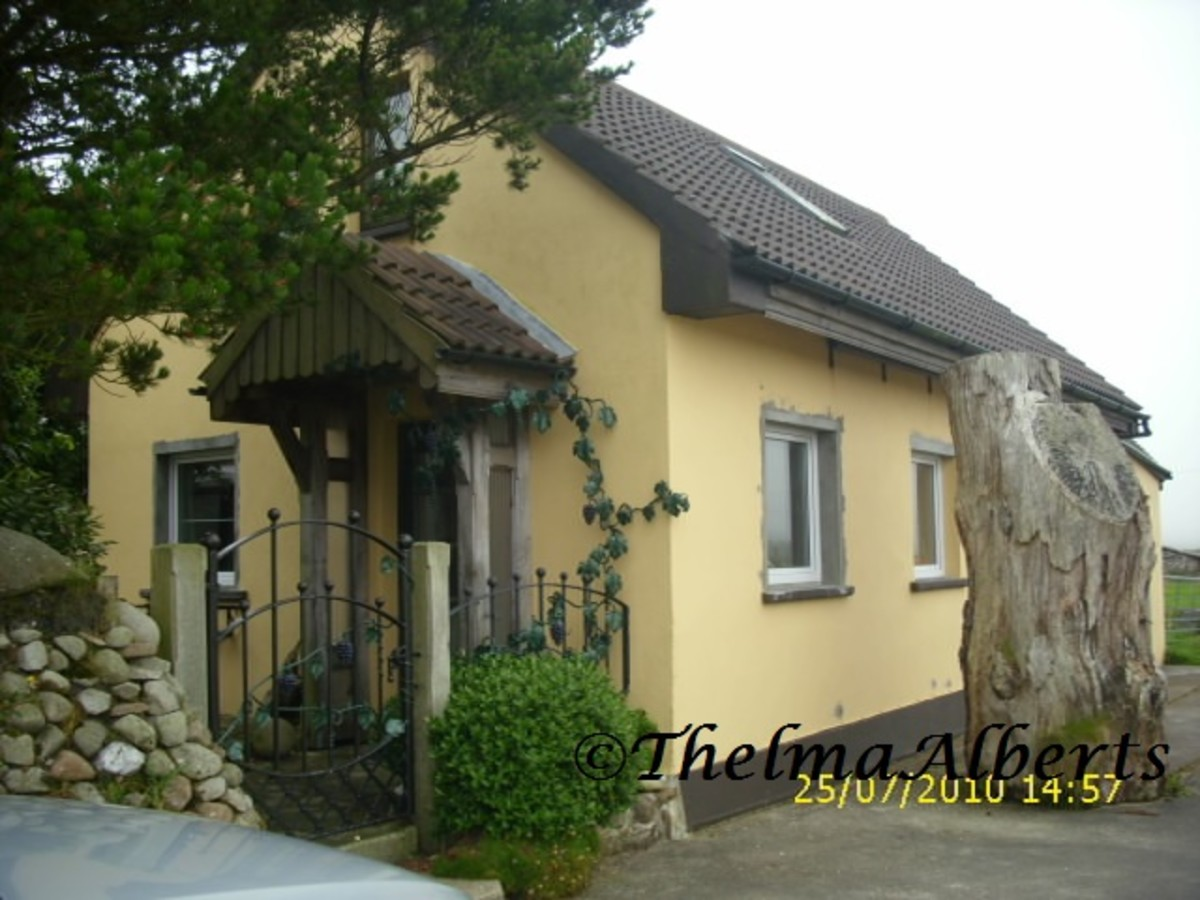 Our first rented house in Geesala.