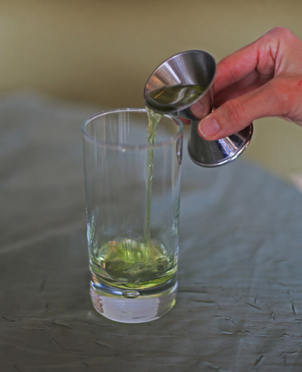 Start with 1 ounce of absinthe