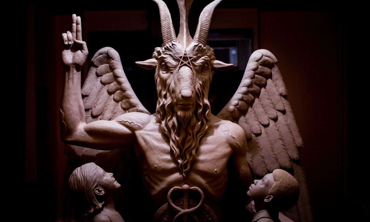 Statue at the Satanic Temple