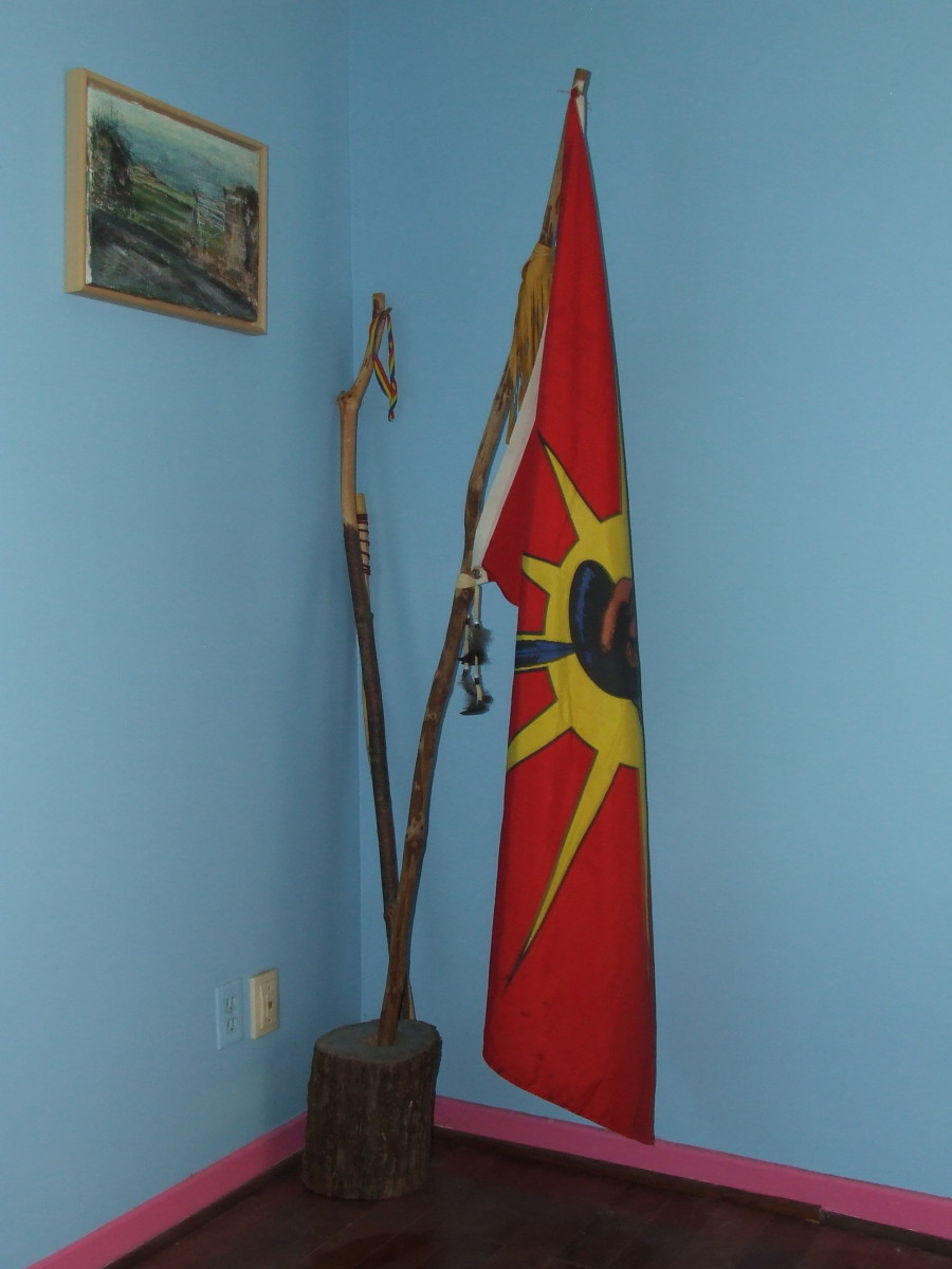 The Ganienkeh Flag (Unity/Warrior Flag)