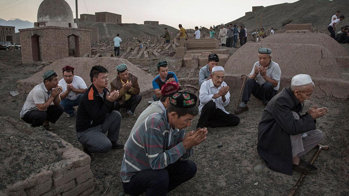 Uighur Men Praying