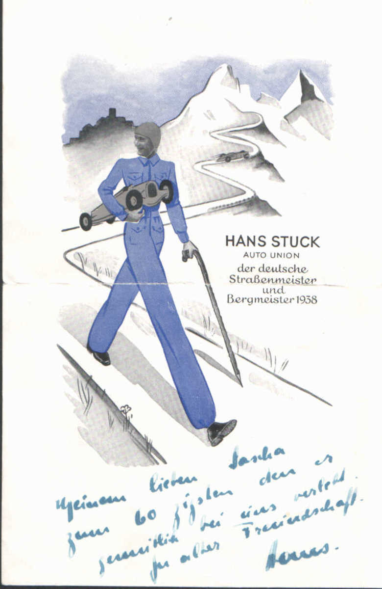 Hans Stuck famed race car driver