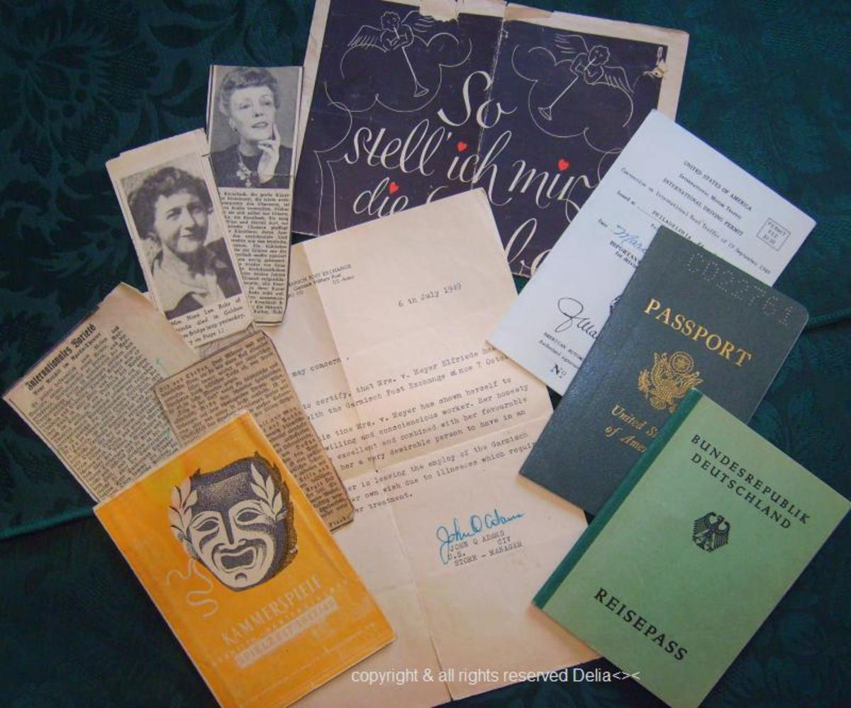 Passports and personal items