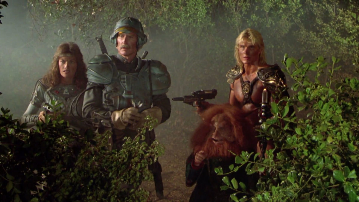 The film works hard to escape its low budget limitations and it actually doesn't look that bad. Really!