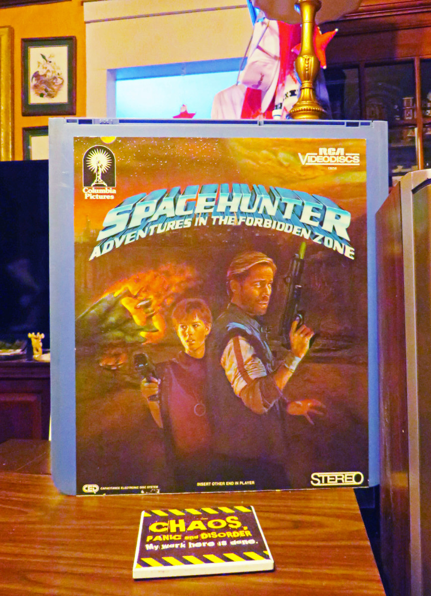 Spacehunter: Adventures in the Forbidden Zone, Selectavision CED Disc ... Staring Peter Strauss, and Molly Ringwald.