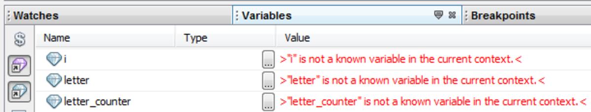 Java debugging Watches window