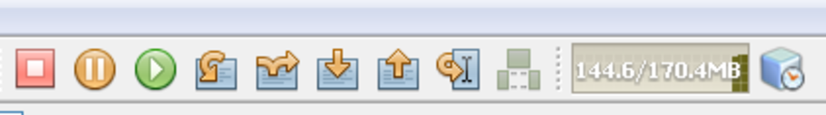 Debugging session toolbar in Java